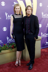 Australian actress Kidman arrives with husband, country music singer Urban, at the 47th annual Academy of Country Music Awards in Las Vegas