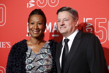 Netflix Head of Content Acquisition Ted Sarandos and Nicole Avant pose at LACMA's 50th anniversary gala in Los Angeles