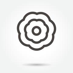 flower icon. sign design vector. illustration. on white background. logo