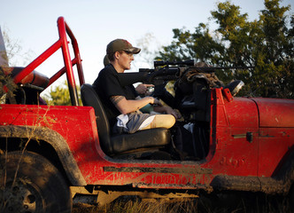 File photo of Sgt. Matt Krumwiede hunting with friend outside San Antonio, Texas