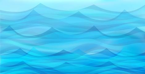 Marine background with stylized blue waves