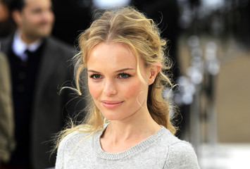 Actress Kate Bosworth arrives at the Burberry 2012 Autumn/Winter womenswear collection show during London Fashion Week in London