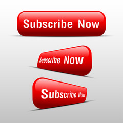 button subscribe now red
