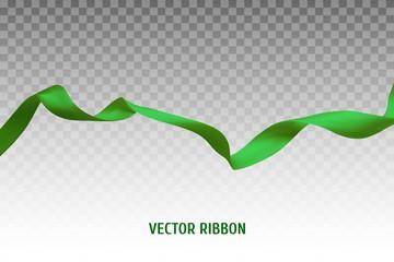 Green vector ribbon Wall mural