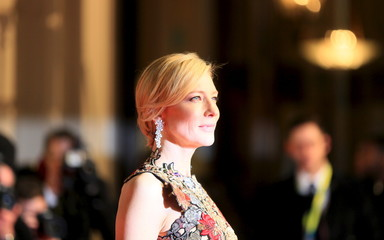 Actress Cate Blanchett arrives at the British Academy of Film and Television Arts (BAFTA) Awards at the Royal Opera House in London