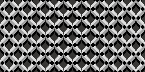 3D wavy geometric background. Seamless pattern. Vector.3Dなみなみ幾何学パターン