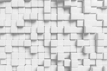 Białe kostki 3D