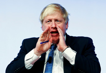 Britain's Foreign Secretary Boris Johnson gestures as he speaks during the Rome Mediterranean Dialogues forum