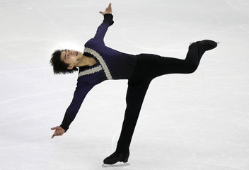 Song of China competes during the men's short program at the Cup of China ISU Grand Prix of Figure Skating in Shanghai