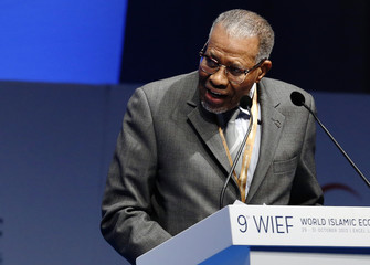 President of the Islamic Development Bank Ahmad Mohamed Ali addresses the World Islamic Economic Forum in London