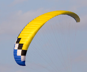 extreme sport parachute in the sky