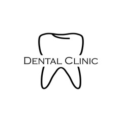 Dental logo, black colored on a white background