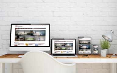 multidevice desktop e-magazine