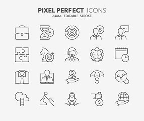 business thin line icons 2
