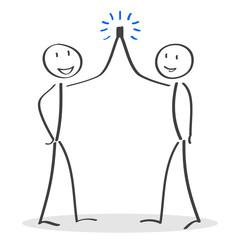 Teamwork, greeting friends, partnership