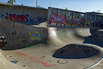 outdoor skatepark in Munich