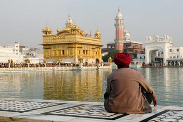 Golden temple at Amritsar, India