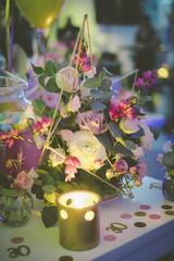 Party table tavolo celebrazione festa dettagli