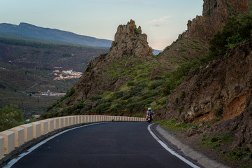Rocks and roads of Tenerife island