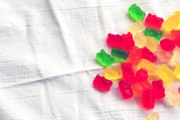 Colorful marmalade bears
