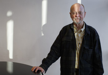 American composer Charles Wuorinen poses before a dress rehearsal for Brokeback Mountain at the Teatro Real in Madrid