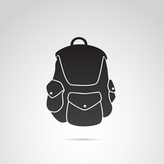 Backpack vector icon.