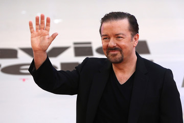 Actor and director Ricky Gervais poses for photographers at the world premiere of his film David Brent Life on the Road in London