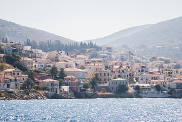 Samos island, greece, seen from the sea