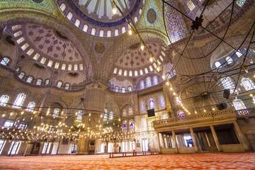 Innenansicht blaue Moschee Istanbul