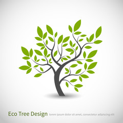 Tree logo concept with leaves