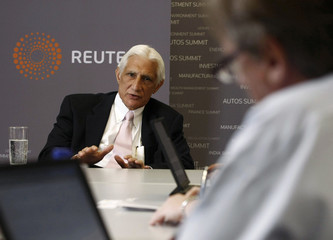 Farris, CEO and Chairman of Apache Corporation, answers questions during the Reuters Energy Summit held in Houston