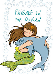 Friends in the ocean
