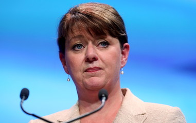 Leader of Plaid Cymru Wood speaks during the Scottish National Party's (SNP) annual conference in Aberdeen