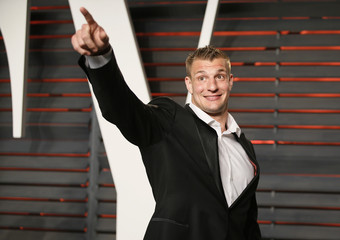 Rob Gronkowski arrives at the Vanity Fair Oscar Party in Beverly Hills