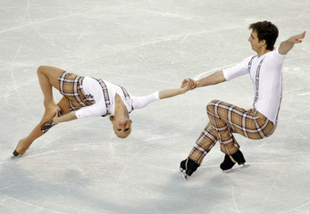 Morand and Dorsaz of Switzerland perform at the European Figure Skating Championships in Tallinn