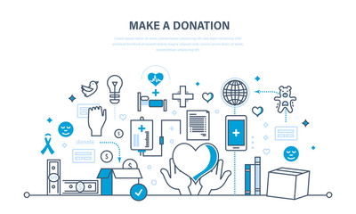 Financial donations, help to health, economic status, contribution to charity.