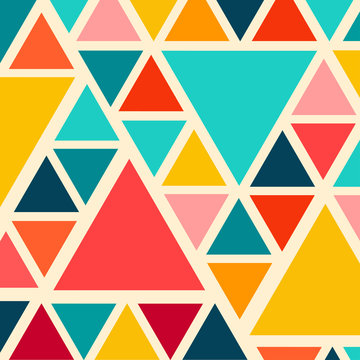 Colorful trendy triangle pattern