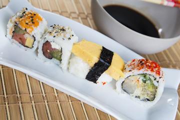 Japanese sushi pieces