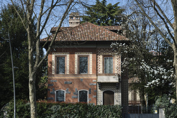 Monza (Italy): old typical house