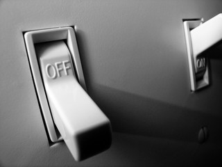 Light Switch for On and Off Power Illumination