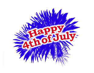 Happy 4th of July Graphic Logo