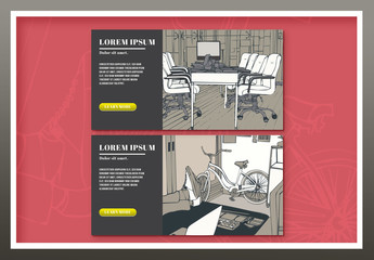 Two Illustrated Bussiness Web Ad Banners 1