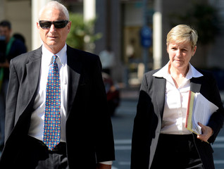 Chief Deputy State's Attorney Michael Schatzow and Deputy State's Attorney Janice Bledsoe arrive at the courthouse in Baltimore