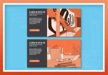 Two Illustrated Bussiness Web Ad Banners 3