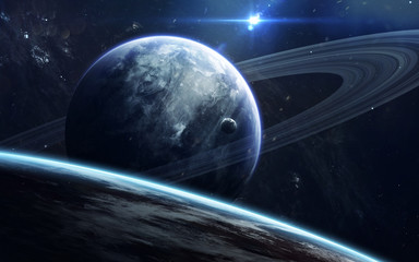 Wall Mural - Deep space beauty, planets, stars and galaxies in endless universe. Elements of this image furnished by NASA