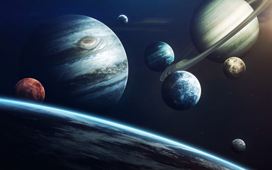 Wall Mural - Planets of Solar system. Elements of this image furnished by NASA