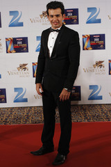 Indian actor Bhanushali poses at red carpet during Zee Cine Awards in Macau