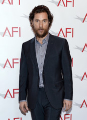 """Actor Matthew McConaughey from the nominated film """"Interstellar"""" poses at the AFI Awards 2014 honoring excellence in film and television in Beverly Hills"""