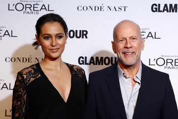 Bruce Willis arrives with his wife, Emma Heming, for Glamour Magazine's annual Women of the Year award ceremony in New York
