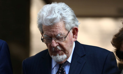 Entertainer Rolf Harris leaves Southwark Crown Court in London